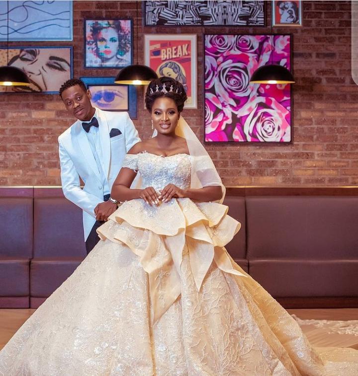 Lateef Adedimeji And Bimpe Oyebade Couples' outfits
