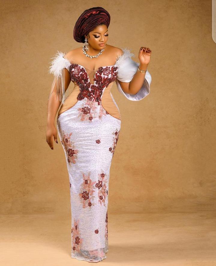 Asoebi style inspiration from Omotola Jolade